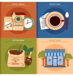 Coffee concept set vector