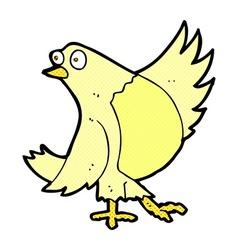 Comic cartoon dancing bird vector