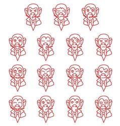 Contour monkey-businessman vector