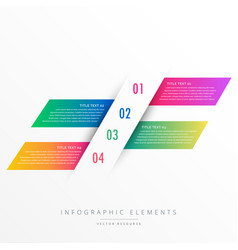 Creative four steps infographic banners vector
