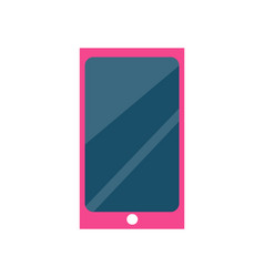 cute girls cell phone or smartphone vector image