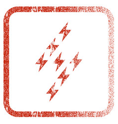Electric energy sign framed textured icon vector