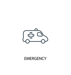 emergency concept line icon simple element vector image