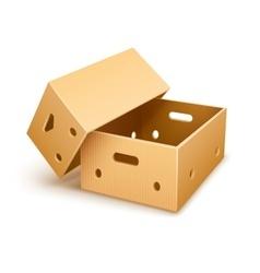 Empty cardboard box tare vector