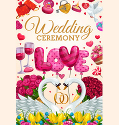 Engagement party invitation wedding day ceremony vector
