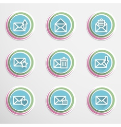 Envelope buttons vector image