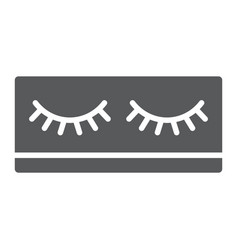 Fake eyelashes glyph icon makeup and beauty vector