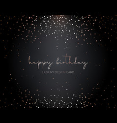 Falling gold particles golden rain birthday card vector