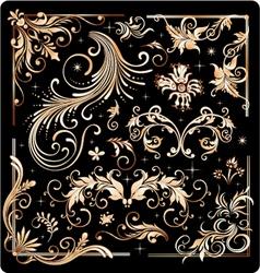filigree design elements vector image