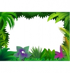 forest frame vector image