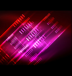 Futuristic neon lights on dark background digital vector