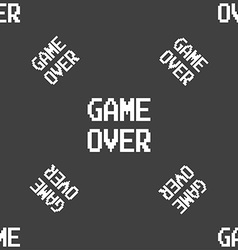 Game over concept icon sign Seamless pattern on a vector