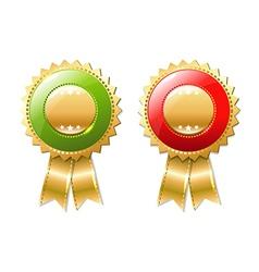 Gold Badges Set vector image