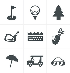 Golf Icons Set Design vector
