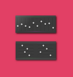 Graphic equalizer with a set of sliders vector