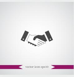 Handshake icon simple vector