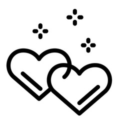 Hearts love affection icon outline style vector