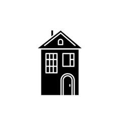 Home black glyph icon vector