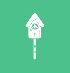 Icon wooden pethouse vector