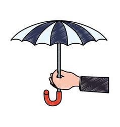 insurance umbrella symbol vector image