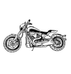 isolated motor scooter icon motorcycle vector image