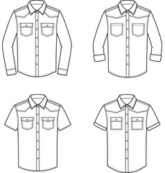 jean shirt set vector image