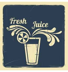 juice retro poster blue vector image