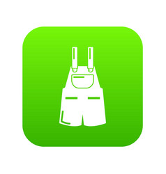 Jumpsuit icon green vector