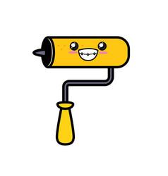 Kawaii cute happy mallet tool vector