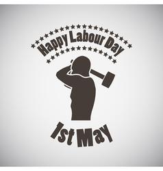 Labour day emblem vector