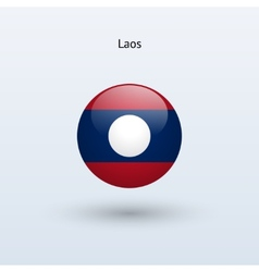 Laos round flag vector image