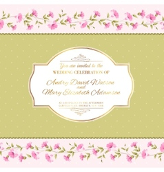 Luxurious invitation card vector