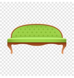 luxury lime sofa mockup realistic style vector image