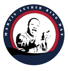 martin luther king jr vector image