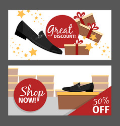 Men summer black shoe flyers vector