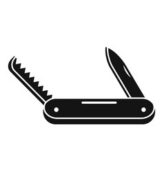 Multifunction knife icon simple style vector