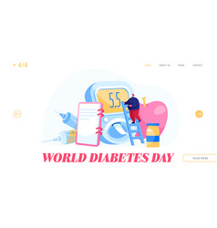 National diabetes day patient treatment check up vector