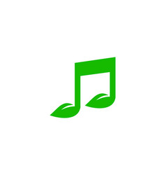 nature music logo icon design vector image