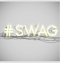 Neon hashtag word vector