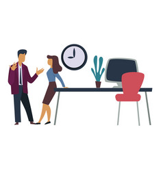 office workers professional relationships man and vector image