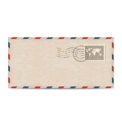 Old postage envelope with stamps vector image