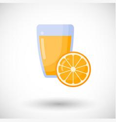 orange juice flat icon set vector image