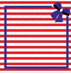 Patriotic background for fourth july vector