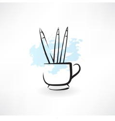 pencils grunge icon vector image