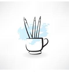 pencils grunge icon vector image