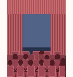 people cinema theater vector image