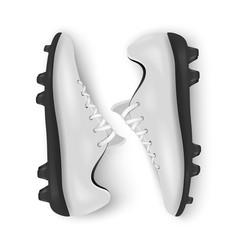 Photo-realistic 3d white blank pair mens vector