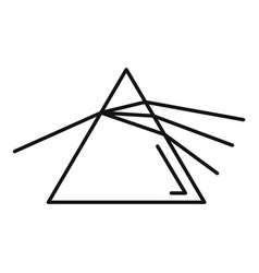 Pyramide light refraction icon outline style vector