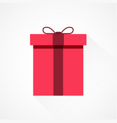 red flat present box concept vector image