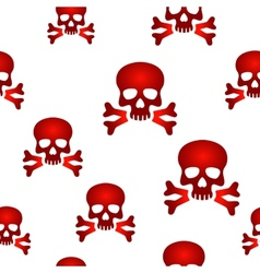 Red skull background vector image